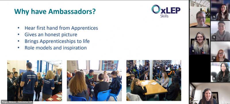 OxLEP apprenticeship ambassador information